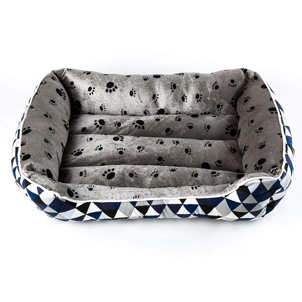 bluee M bluee M Jim Hugh Pet Dog Bed House for Cats Mats Lounger for Puppy Dogs Bed Cushion Kennel for Medium Dogs Blanket Washable House for Dogs