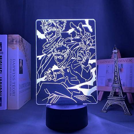 Anime Jujutsu Kaisen Ryomen Sukuna Led Night Light Lamp For Bedroom Decor Birthday Gift Yuji Itadori Light Jujutsu Kaisen Gadget Amazon De Beleuchtung