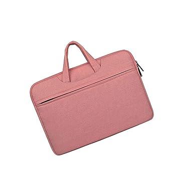 LEEQ - 1 Elegante maletín para Ordenador portátil y Tableta, Color Rosa: Amazon.es: Hogar