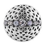 Wholesale Vocheng Interchangeable Jewelry 2 Colors 18mm Vintage Button Vn-101820 Pack of 20pcs (White)