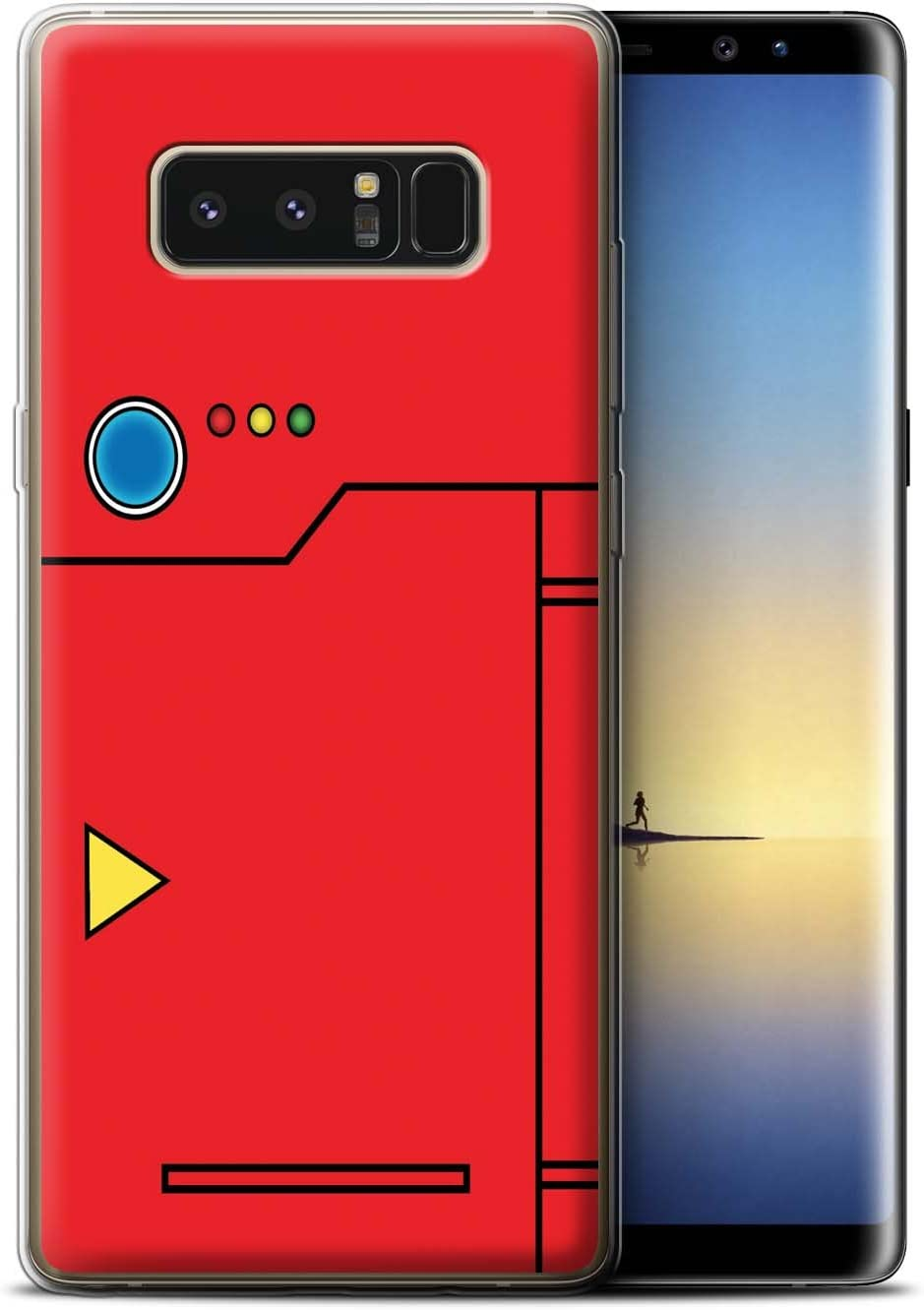 Stuff4 Phone Case for Samsung Galaxy J1//J100 Pokeball Anime Inspired Yellow Design Transparent Clear Ultra Soft Flexi Silicone Gel//TPU Bumper Cover