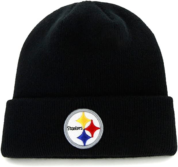 4277a9e1 NFL Pittsburgh Steelers '47 Raised Cuff Knit Hat, Black, One Size