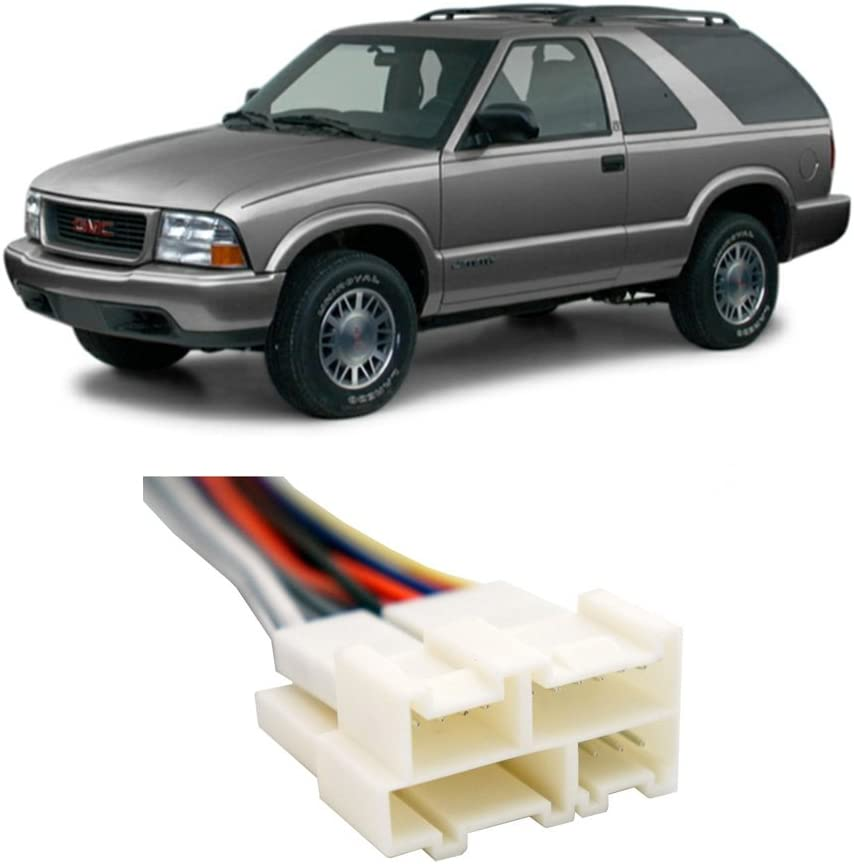Compatible with GMC Jimmy 1994-2001 Factory Stereo to Aftermarket Radio Install Harness Adapter