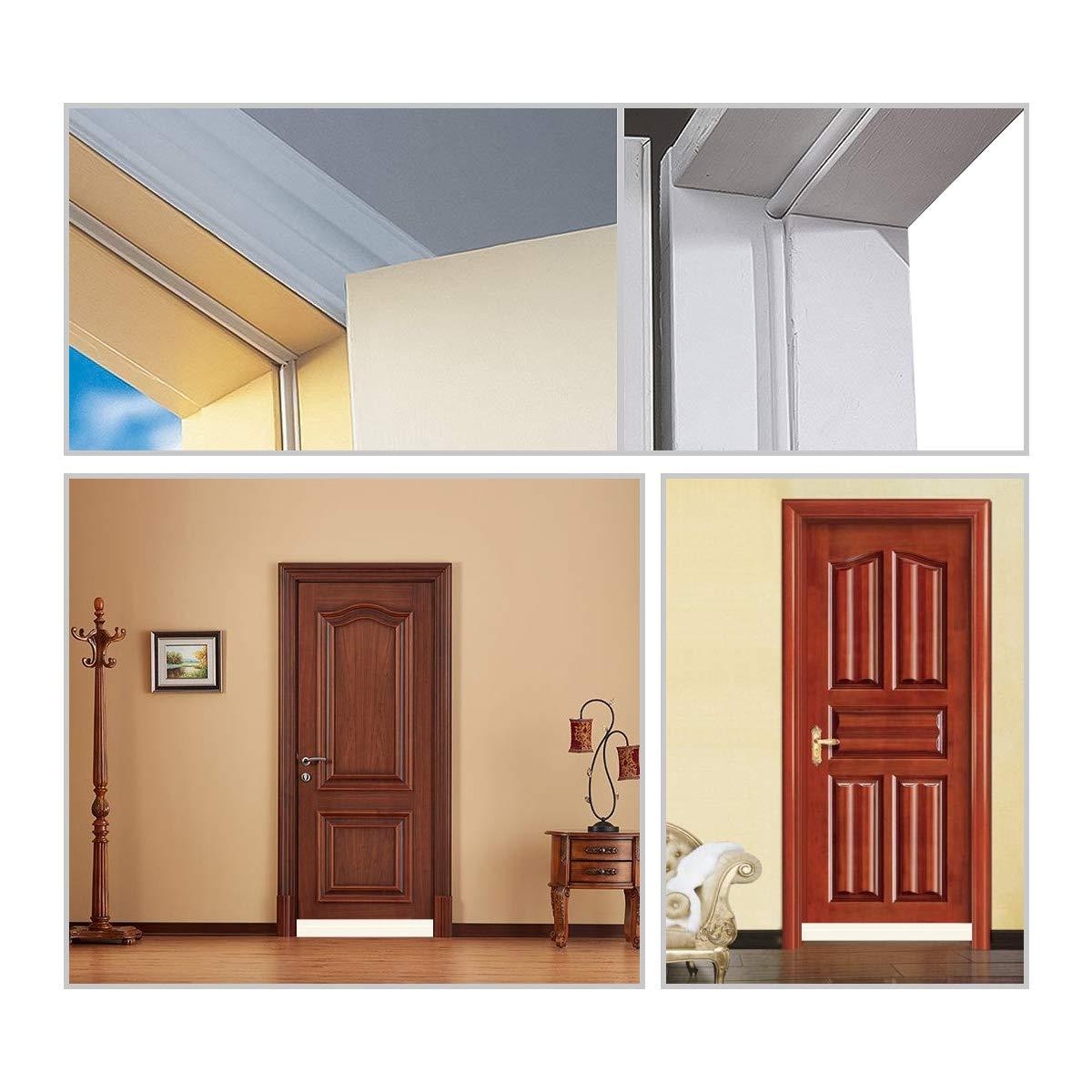 Aufisi 2 pcs Strong Adhesive Door Draft Stopper Door Sweep Blocker for Soundproof and Prevent Bugs Under Door Seal 1 pcs Weatherproof Door Seal Stripping 5M Door Bottom Seal White 1.7 W x 39 L Door Bottom Seal White 1.7 W x 39 L