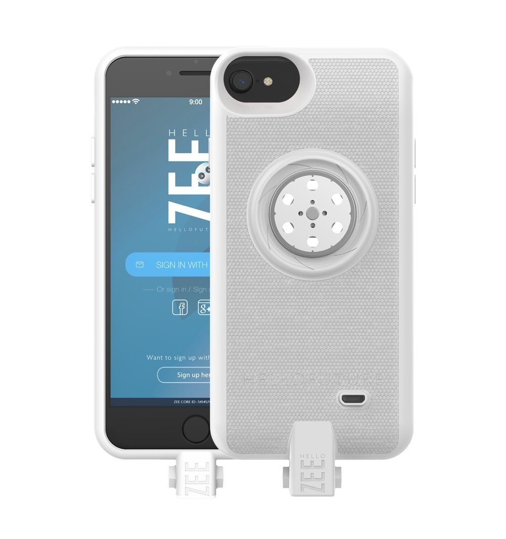 Battery case iPhone 6/6s/7/8- with Built-In 128GB Memory+Battery 2600mAh+Wireless Charging - White (Apple Certified) by HELLO ZEE (Image #1)
