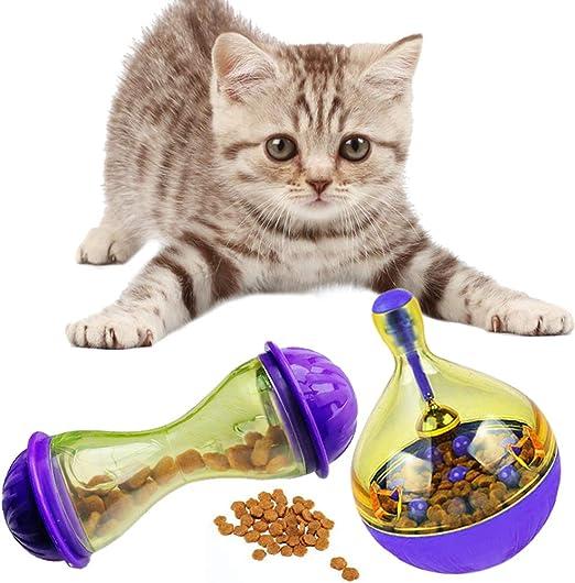 2 PCS Dispensador de Pelota para Gatos Juguete Catapulta ...