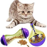 Eizur 2 PCS Haustier Interaktives Spielzeug Futterspender Interaktives Spielzeug Ausbildung Für Katzen Leckereienball Leckerli-Ball