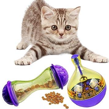 Guizen 2 PCS Dispensador de Pelota para Gatos Juguete Catapulta Interactiva de Comida para Pet Cat Feeder Toy Mascotas Divertido Mascotas: Amazon.es: ...