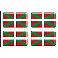 Artimagen Pegatina Bandera Rectángulo 4 uds. Euskadi Resina