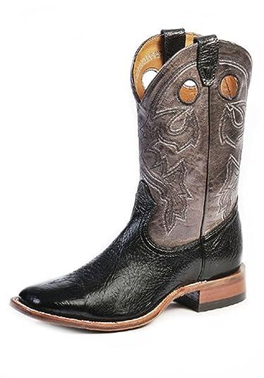 Amazon.com | Boulet Men's Cowboy Boot Wide Square Toe - 9033 | Western