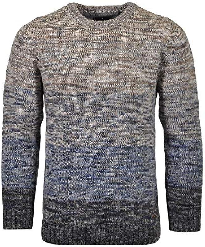 Ragman Pullover Round Tweed Stripe: Odzież