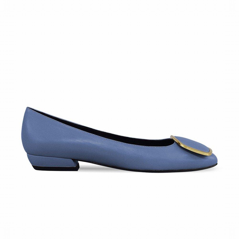 DHG Flache Schuhe der Britischen mit Artwölbung Realer Schuhfrühling Flacher mit Britischen Niedrigen Schuhen,Ein,36 - 6b1dbf