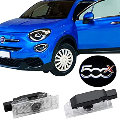 2pcs Car Door Logo Lights LED Shadow Projector Courtesy Welcome Lights for 500x, 500 L and PUNTO-05: Automotive