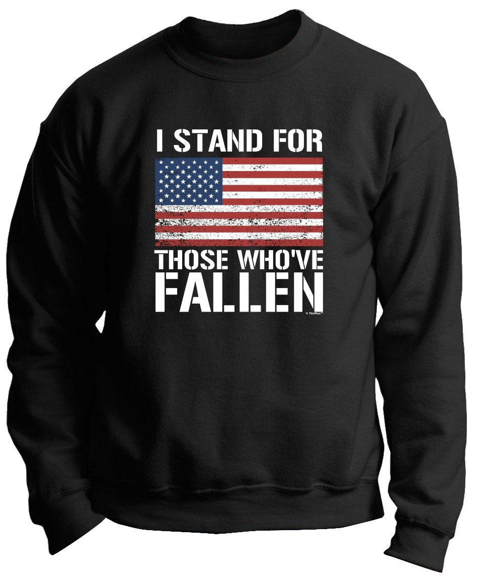 I Stand For Those Who Ve Fallen Pro American Flag Premium Crewneck 6071 Shirts