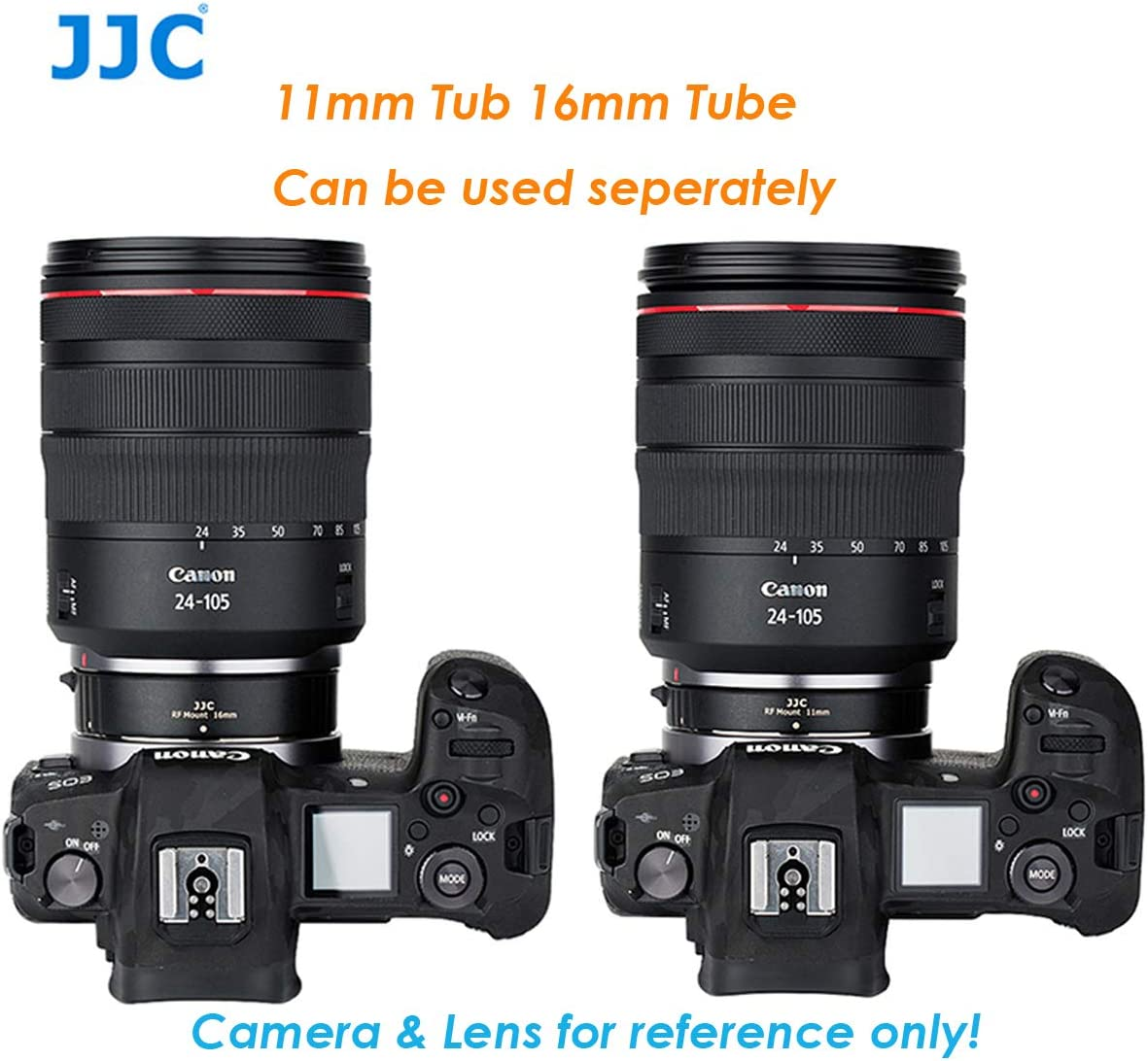 JJC Canon RF Mount Auto Focus Automatic Extension Tubes Closeup Portrait Brass Mount Gilt Metal Contact 11mm 16mm Tubes Macro Photography Extension Tube for Canon Mirorless Camera EOS R // R5// RF
