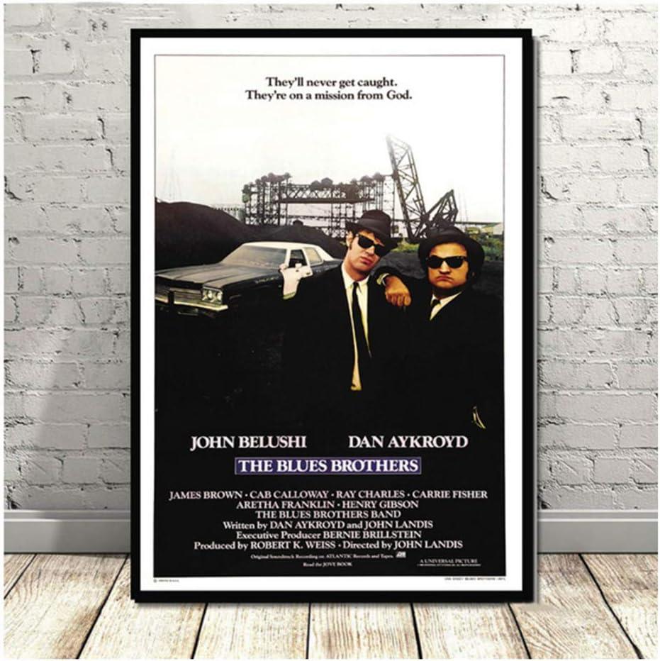 nr Blues Brothers Vintage Film TV Serie Klassische Leinwand /Ölgem/älde Poster Kunst Wandbilder F/ür Wohnzimmer Wohnkultur-50x70 cm Kein Rahmen