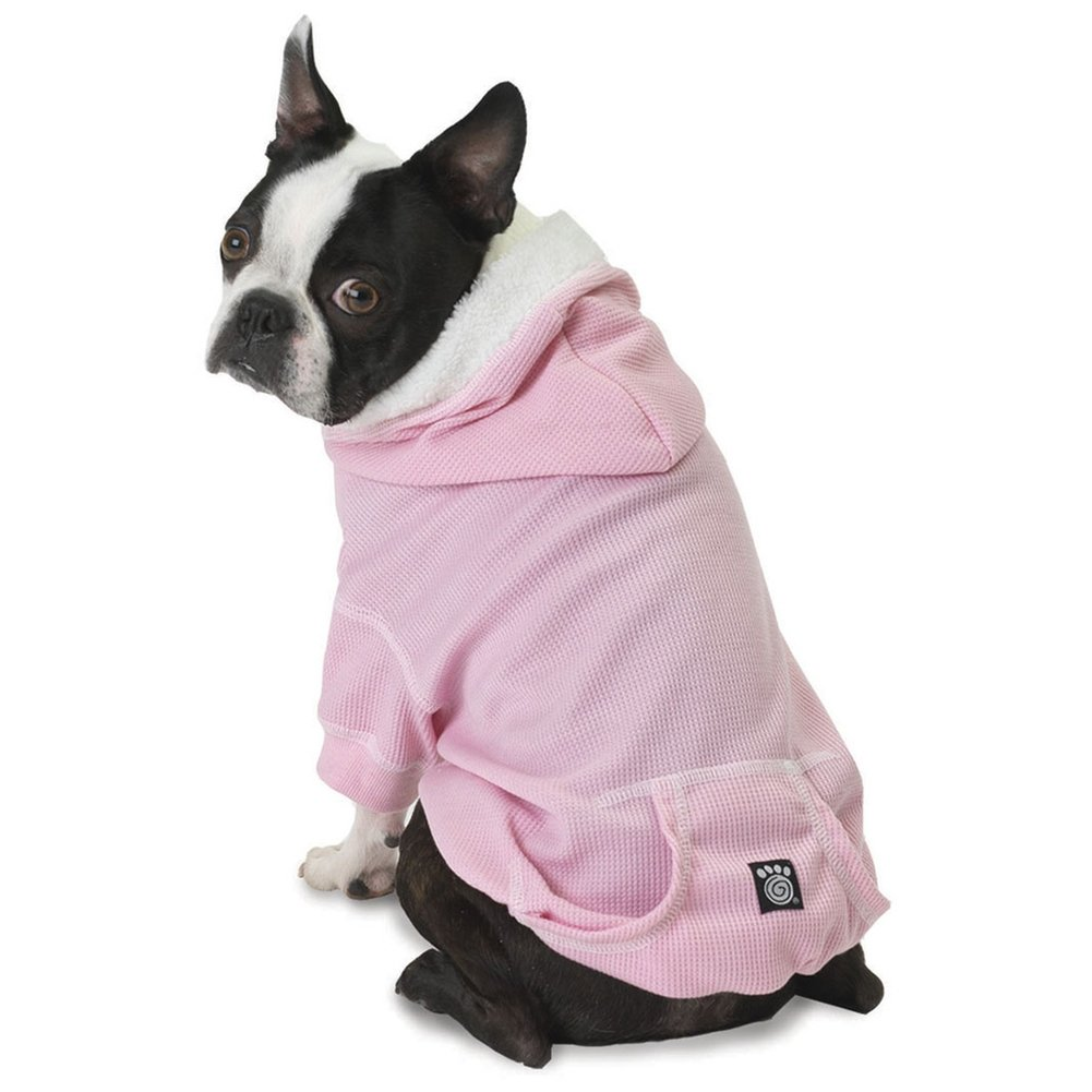 Bentley's Fur Trimmed Pink Dog Hoodie - Large by PetRageous