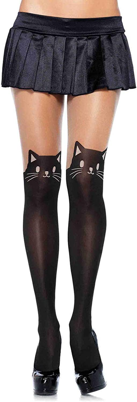 Leg Avenue Women's Cute Animal Spandex Opaque Sheer Pantyhose