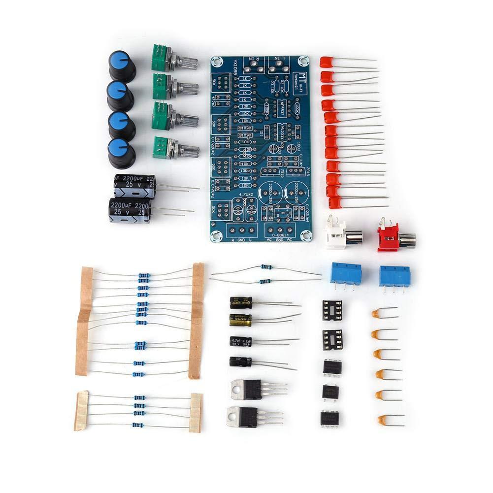Amplificador de Preamplificador Esté reo de CA 15V AMP Kit de Control de Tono de Volumen de la Placa del Mó dulo de Control de Bricolaje Zerone