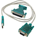 USB to RS232 DB9 Serial Cable + DB25 Pin Adapter / Port Adapter Converter for GPS, PDA, PC, Modem