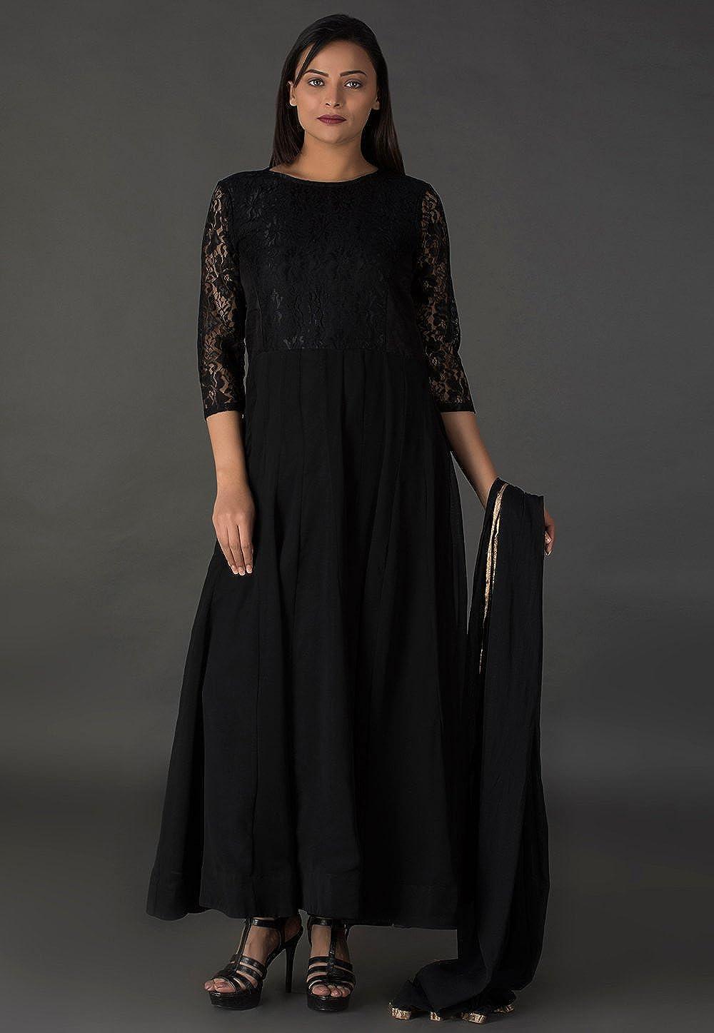 Amazon.com: Utsav - Traje de estilo Georgette Abaya, corte ...