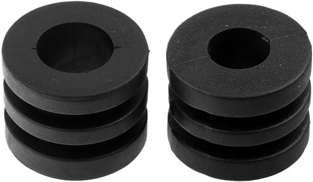 Sharplace 16 Pcs de Paragolpes de Varilla Topes de Goma Ranurados de Color Negro Accesorio Deportivo: Amazon.es: Deportes y aire libre