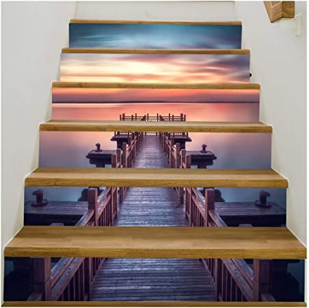 SERFGTFH Escalera De Caracol Pegatina Pegatina Pasos De Bricolaje Baldosas Cerámicas Patternsdecal Decoracion De Boda: Amazon.es: Hogar