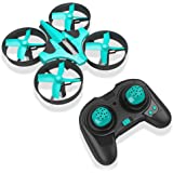 RCtown ELF Mini Drone for Kids 2.4GHz 4CH Mini UFO Quadcopter Drone with 6-Axis Gyro Headless Mode Remote Control Nano Quadcopter (Light Blue)
