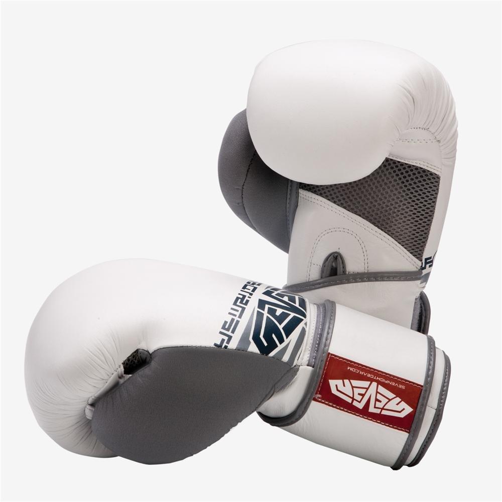 Sevenグローブ、ボクシングトレーニング – ホワイト B00QL42HD2  14oz