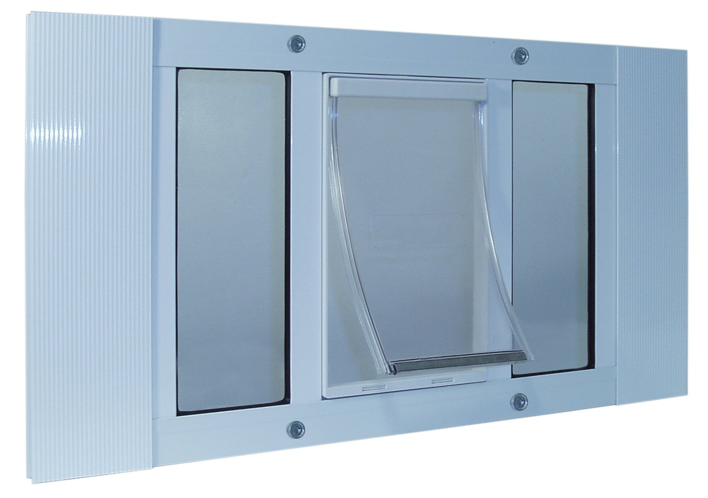 27'' to 32'' Wide Window Sash Pet Door with an Xlg Flap 10.5'' X 15''