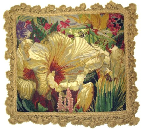Deluxe Pillows Flower Collage - 16 x 18 in. needlepoint pillow