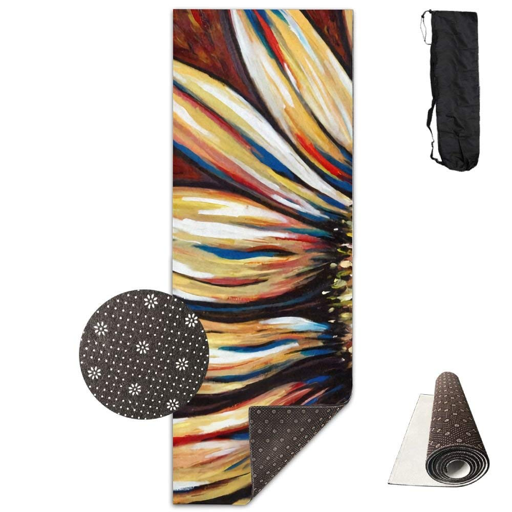 Sunflower Floral Art Deluxe,Yoga Mat Aerobic Exercise Pilates Anti-slip Gymnastics Mats by HOTSELL-Makemoney.forever (Image #1)