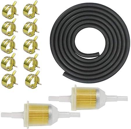 Benzinschlauch Benzinfilte 8 Stück Kraftstoffleitung Vakuumröhre Benzinschlauch Kit Schlauchschellen Für Pkw Auto Motorrad Rasenmäher Roller Auto