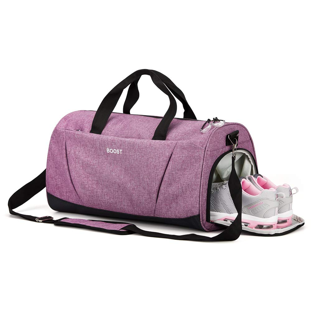 Sports Gym Bag with Shoes Compartment wet pocket for Women & men by Boost