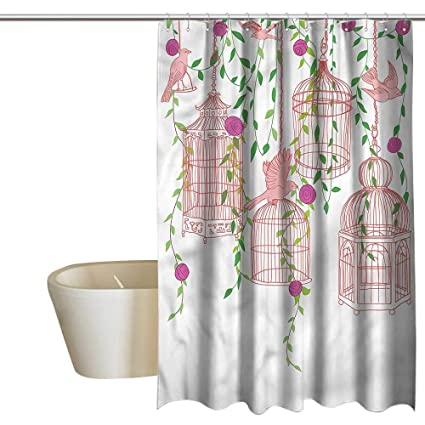 Amazon.com Wixuewu Shower Curtains for Bathroom Cream Birds