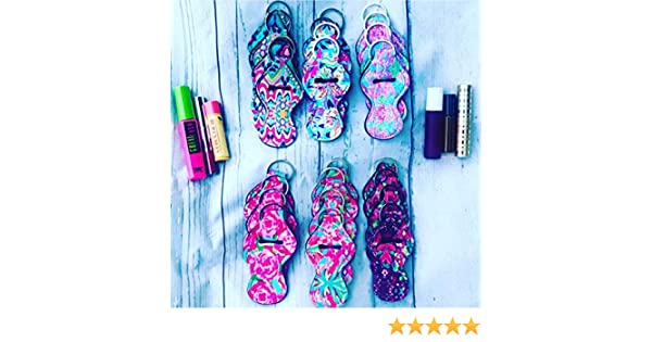 Amazon.com: SET OF 24 Lilly Floral Pattern Neoprene Travel Keychain Case for Essential Oil Roller Bottles, Lipstick, Chapstick, Lip Gloss, Mascara, ...