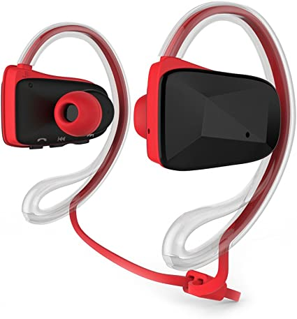 Blanco Bluetooth Mini Auriculares con Cancelaci/ón de Ruido Micr/ófono para Correr Bicicleta Compatible con iOS Android Bluetooth Auriculares Inalambricos Deportivos