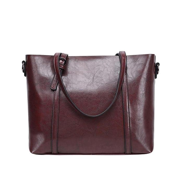 Amazon.com: Sunyastor Korean Version of The New Trend Ladies Shoulder Bag Large Capacity Handbag Vintage Style Soft Leather Work Tote Large Shoulder Bag ...