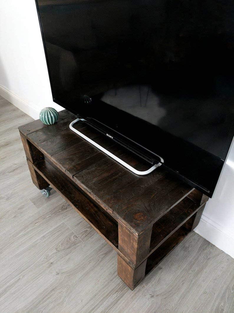 Dydaya Mesa de Palets Pintada en Color Nogal para TV - Mesas para ...
