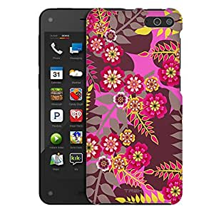 Amazon Fire Case, Slim Fit Snap On Cover by Trek Wild Jungle Flowers Case