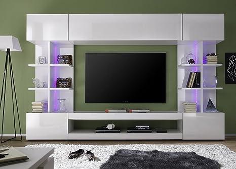 Soggiorno moderno bianco Seul, parete porta tv di design,mobile ...
