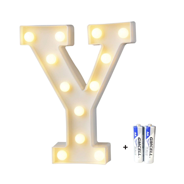 LED Brief Licht Led dekoration f/ür Geburtstag Party Hochzeit /& Urlaub Haus Bar Buchstabe S LED Buchstabe Lichter Alphabet