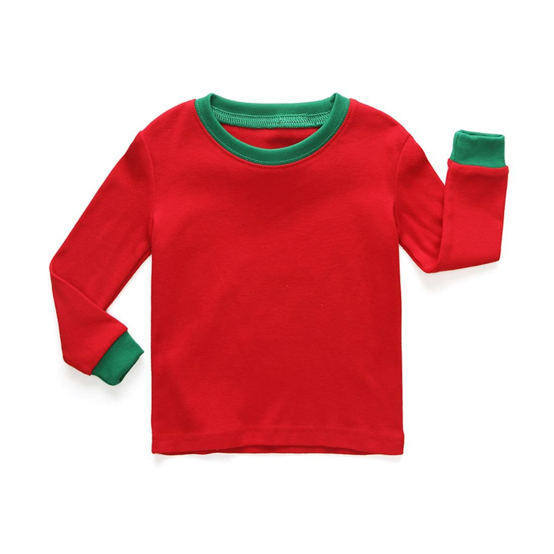 Girls Pajamas Easy Long Sleeves Toddler Bright Stripe Kids Pjs Sleepwear 2 Piece