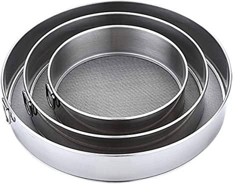Kitchen Mesh Sifters Round Shape Flour Sieve Strainers Biscuits Baking Colanders