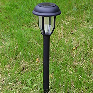 Sogrand Solar Lights Outdoor Pathway Garden Path Decorative Stake Light Dual Color LED Landscape Home Decor Waterproof Bright Yard Decorations Stakes For Outside Walkway Driveway Patio 4Pack