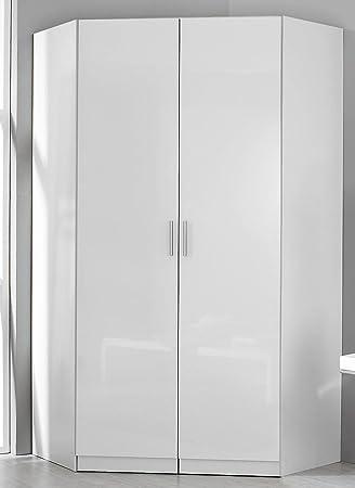 Rauch Eck-Kleiderschrank Celle alpinweiß/Hochglanz weiß 117 x 117 cm ...