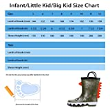 hiitave Kids Toddler Waterproof Rubber Rain Boot