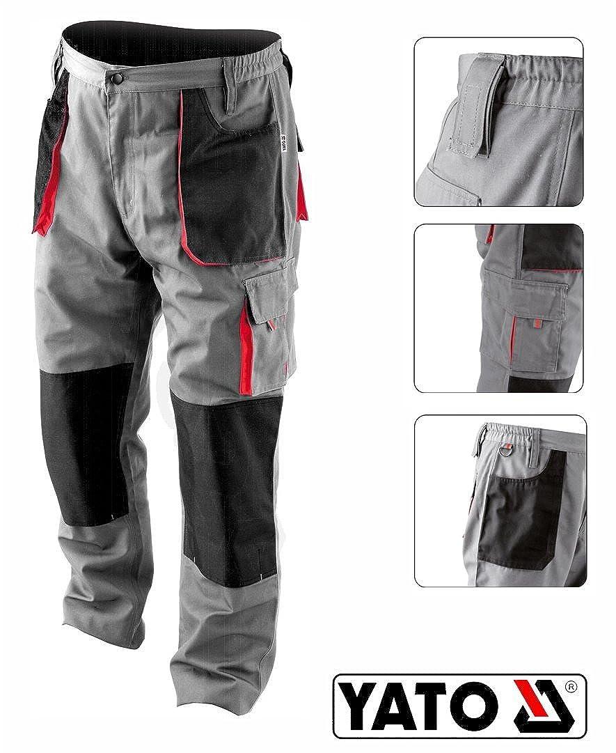 Yato pantaloni da lavoro pantaloni da lavoro vestiti sicurezza Uomo Grigio buona qualità nuovo Abbigliamento specifico
