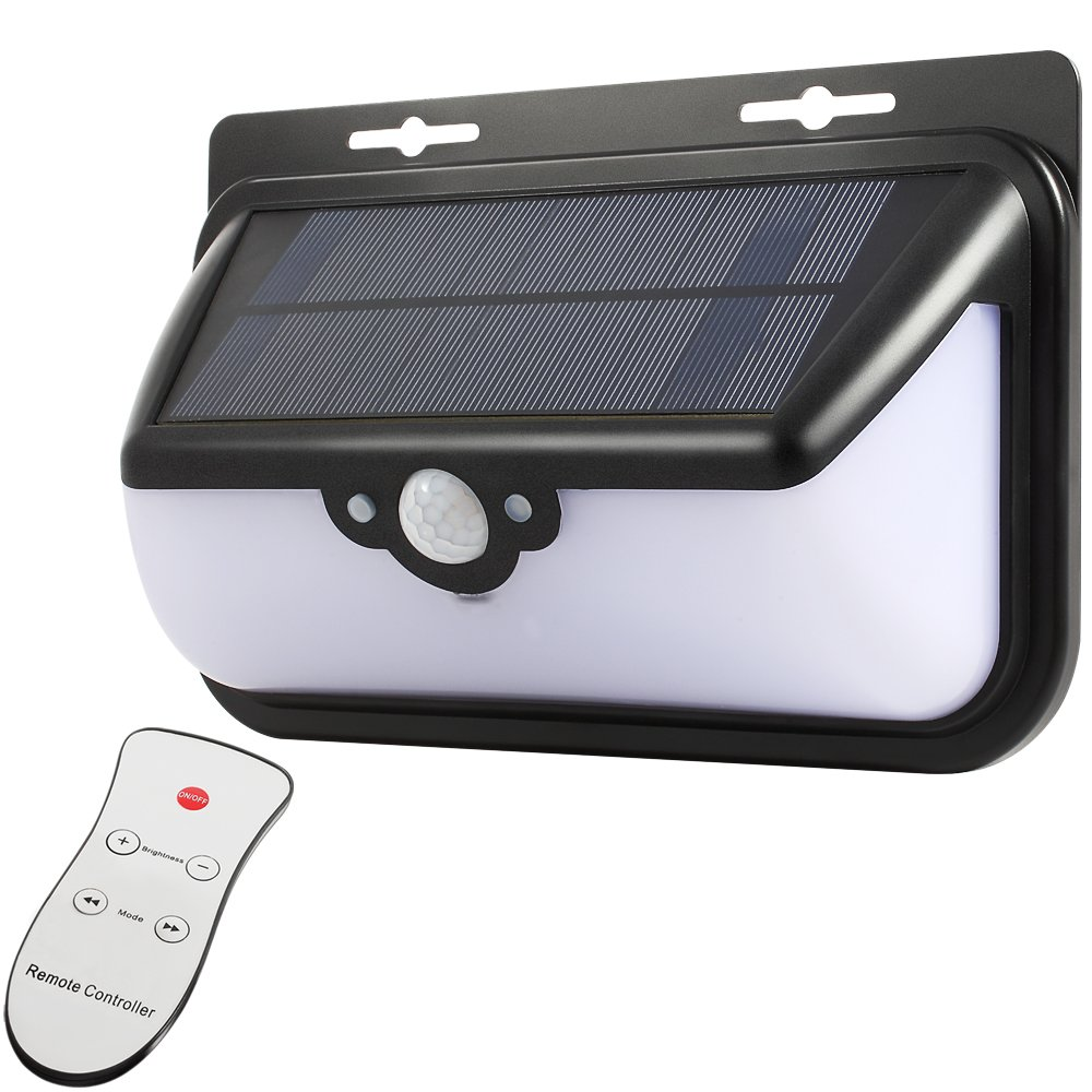 Outdoor Solar Lights With Remote Control, MuiFA CP706 Motion Sensor 48 LED  600LM Bright Weatherproof