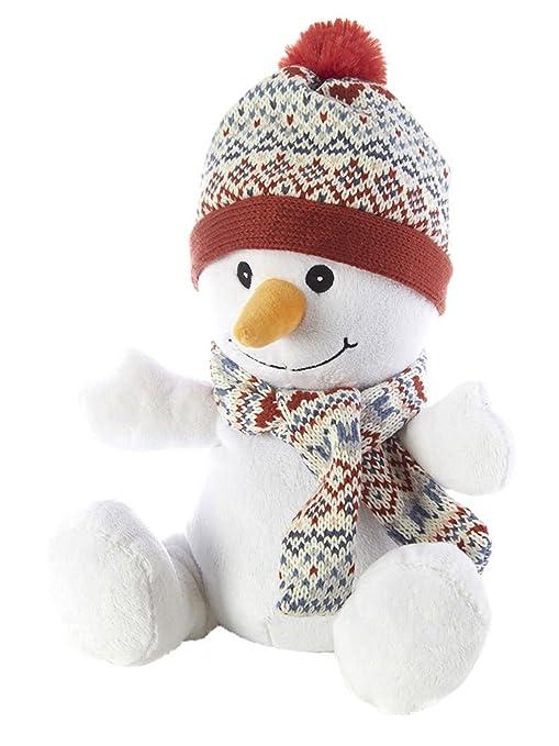 Intelex – Peluche de muñeco de nieve – para microondas/se puede calentar en el microondas de juguete